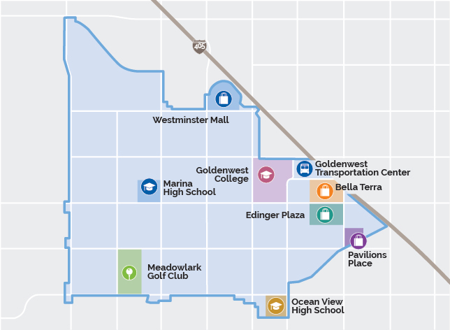 Huntington Beach and Westminster Map