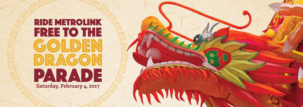 Two Opportunities to Ride Metrolink Free to the Golden Dragon Parade