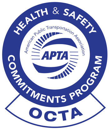 OCTA APTA health & safety seal