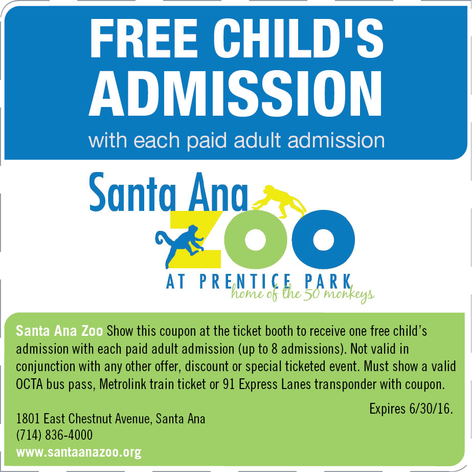Santa barbara zoo discounts coupons