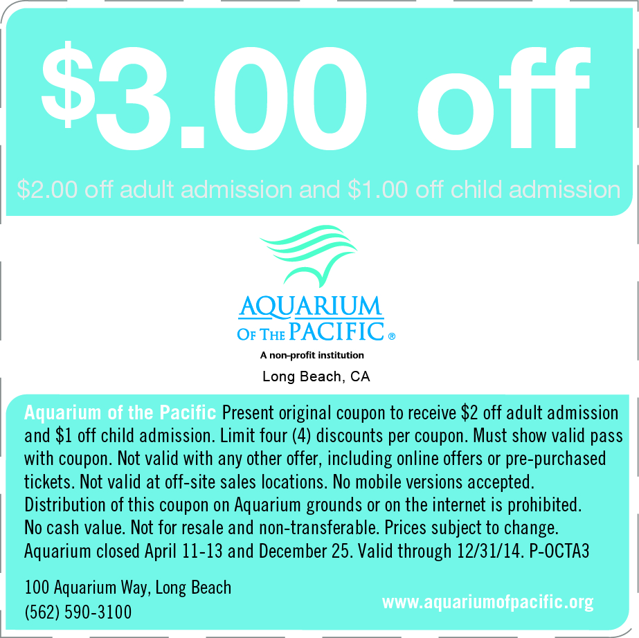 Atlantis aquarium discount coupons