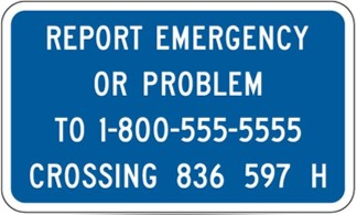 Report Emergency sign