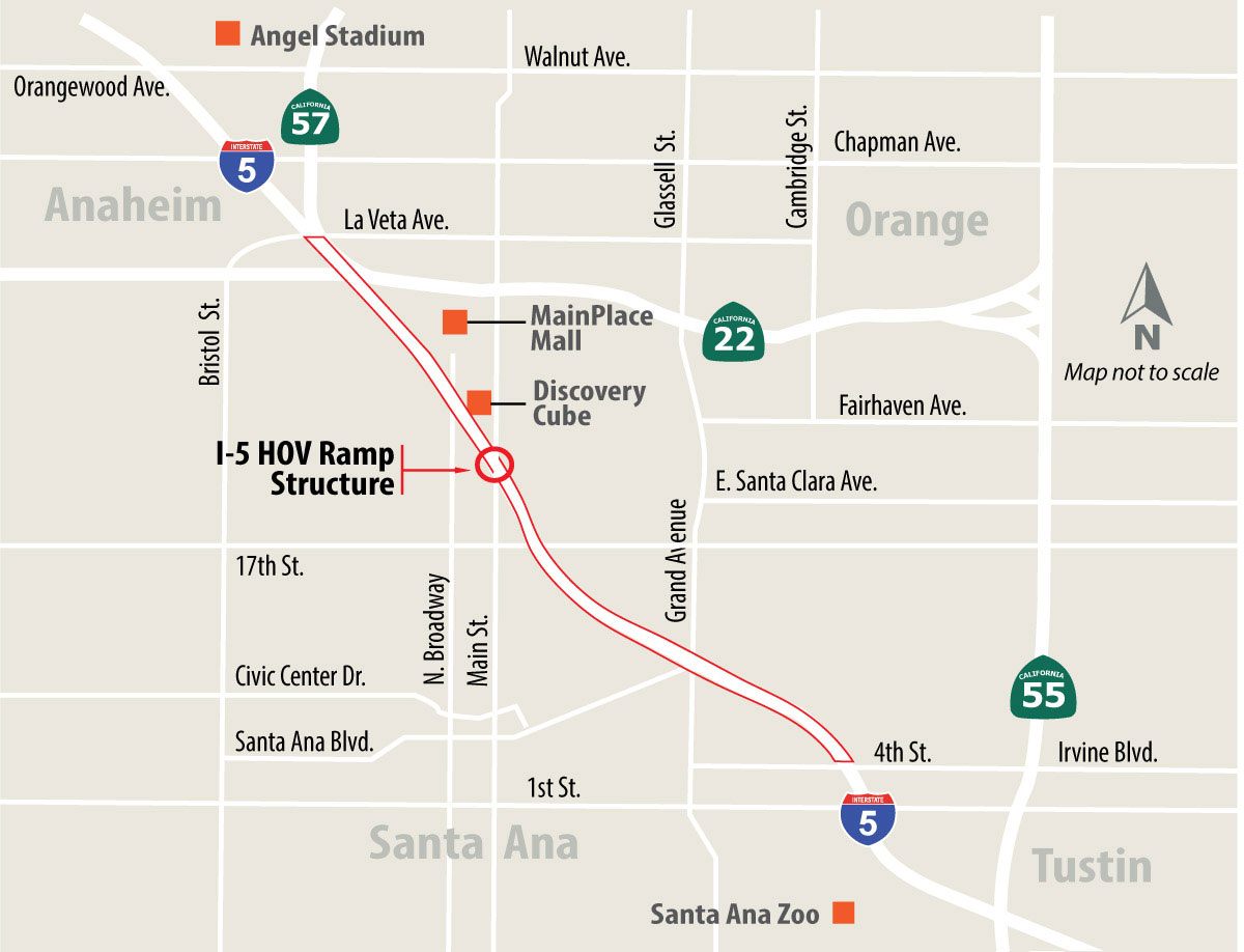 I-5 Central County Improvements Map