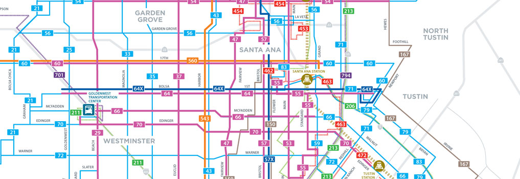Bus Routes Map System Map
