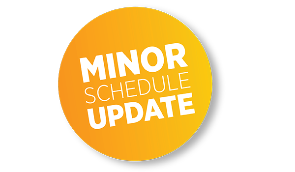 Minor Schedule Update Feb 2021