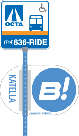 Route 543 bus stop sign