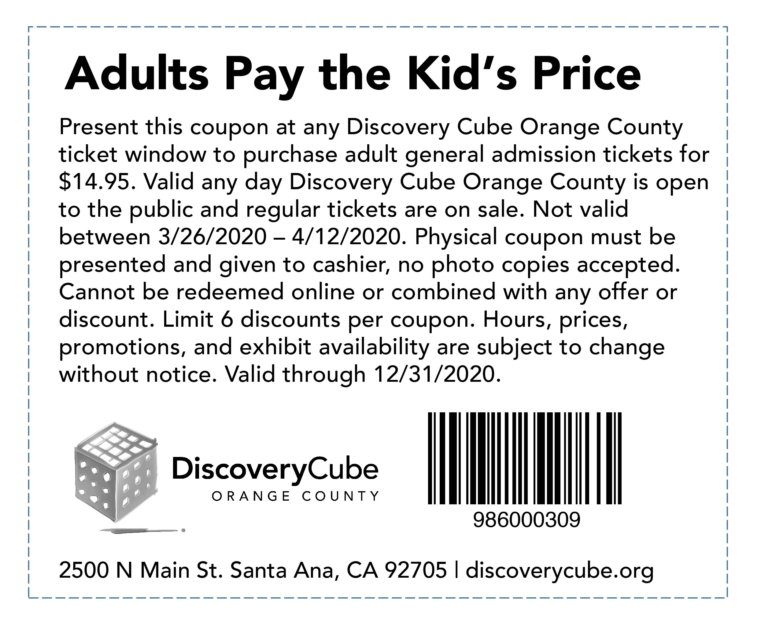 Discovery Cube Coupon >> Metrolink Weekend 2019 Deals